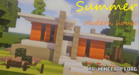 Скачать Summer Time - Modern House для Minecraft