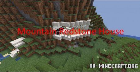 Скачать Mountain Redstone House для Minecraft