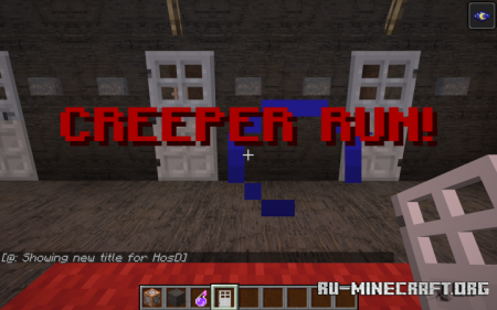 Скачать Creeper Run для Minecraft