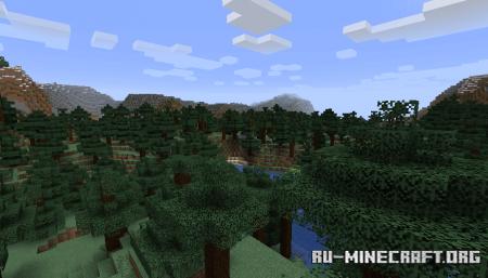 Пейзаж из Minecraft 1.14.4