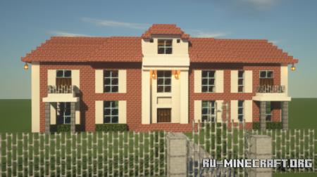 Скачать New Brick Styled Mansion для Minecraft