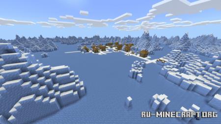 Скачать Endless Ice Biome для Minecraft PE 1.12