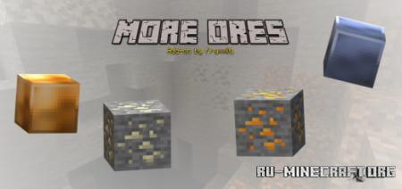 Скачать More Ores для Minecraft PE 1.13