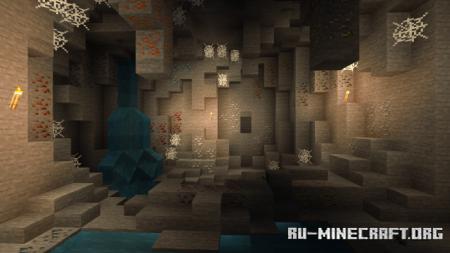 Скачать Cave Plus для Minecraft PE 1.13