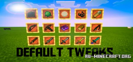 Скачать Default Tweaks [16x16] для Minecraft PE 1.12