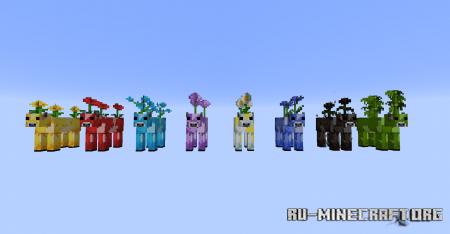 Скачать Mooblooms для Minecraft 1.14.4