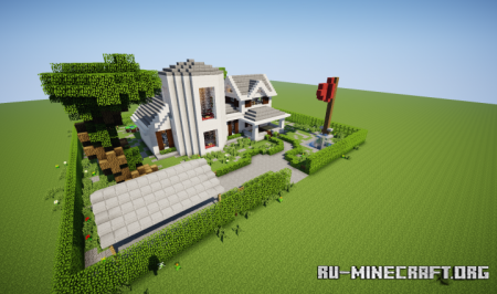 Скачать White Turret Gable Country Home для Minecraft