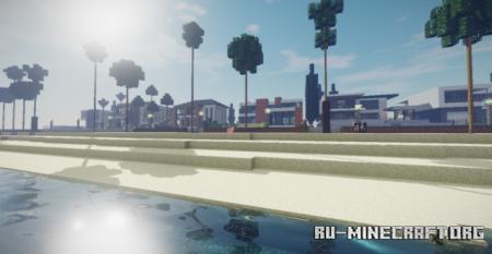Скачать Modern Beach Neighborhood для Minecraft