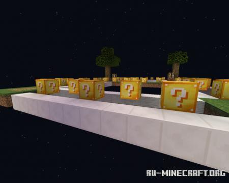 Скачать 4 Player Lucky Block Skywars для Minecraft