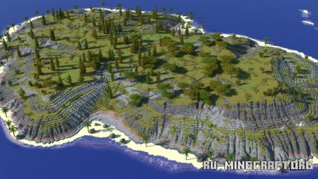 Скачать Custom Island Terrain by Evmanz для Minecraft