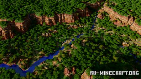 Скачать Custom Mesa Cliffs Terrain для Minecraft