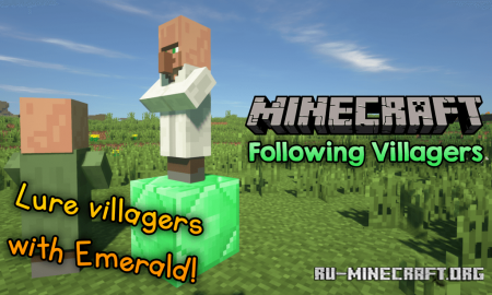 Скачать Following Villagers для Minecraft 1.14.4