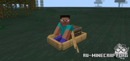 Скачать Swamp Boat для Minecraft PE 1.13