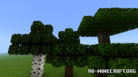 Скачать 3D Leaves Model [16x16] для Minecraft PE 1.13