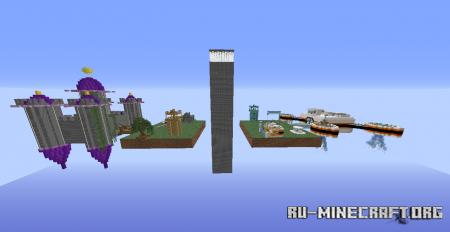 Скачать Future Vs Past, TNT WARS для Minecraft