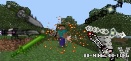 Скачать Over Powered Swords для Minecraft PE 1.13