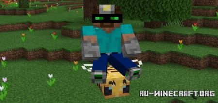 Скачать Rideable Bees для Minecraft PE 1.14