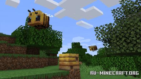 Пчёлы в Minecraft 1.15