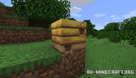 Пчелиное гнездо в Minecraft 1.15