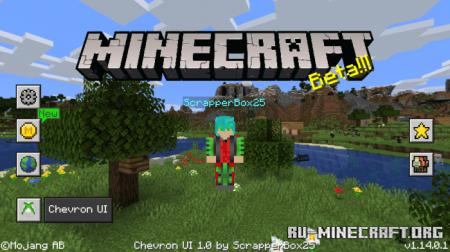 Скачать ChevronUI для Minecraft PE 1.14