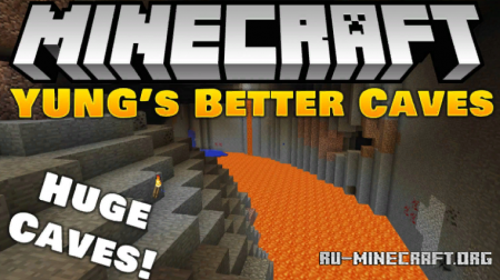 Скачать YUNG's Better Caves для Minecraft 1.14.4