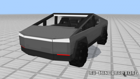 Скачать Tesla CyberTruck для Minecraft PE 1.13