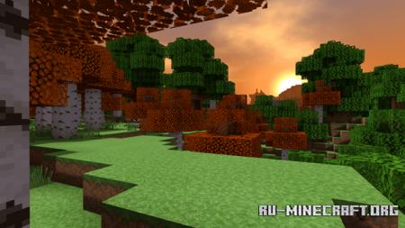 Скачать Autumn Birch для Minecraft PE 1.13