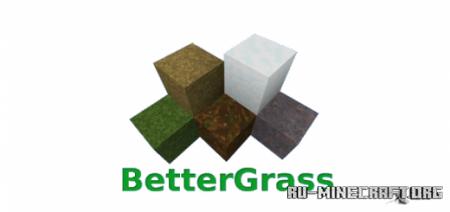 Скачать BetterGrass [64x64] для Minecraft PE 1.12