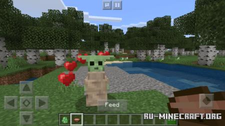 Скачать Cute Baby Yoda для Minecraft PE 1.14