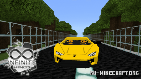 Скачать Lamborghini Huracan для Minecraft PE 1.14