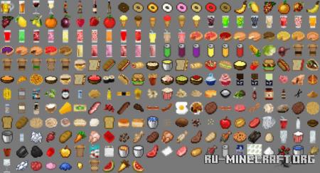 Скачать Lots More Food для Minecraft PE 1.14
