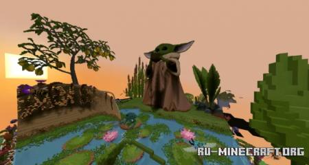 Скачать Baby Yoda Art by nazes22 для Minecraft