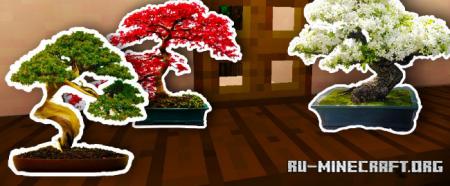 Скачать Bonsai Trees для Minecraft 1.14.4