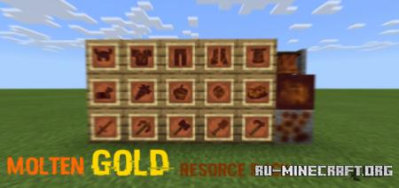Скачать Molten Gold [16x16] для Minecraft PE 1.14