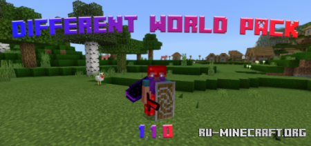 Скачать Different World Pack [16x16] для Minecraft PE 1.13