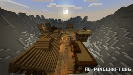 Скачать Oak Lindsey The Old Western Town для Minecraft PE