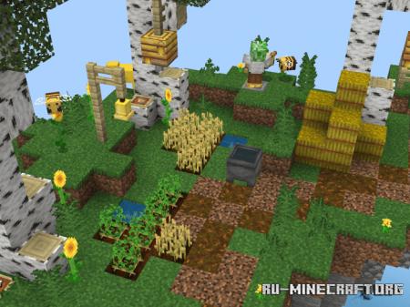 Скачать Colorful Sky Islands для Minecraft PE