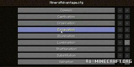 Скачать Miner Advantage для Minecraft 1.15.2