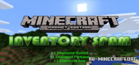 Скачать Inventory Spam для Minecraft PE 1.9