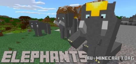 Скачать Elephants для Minecraft PE 1.13