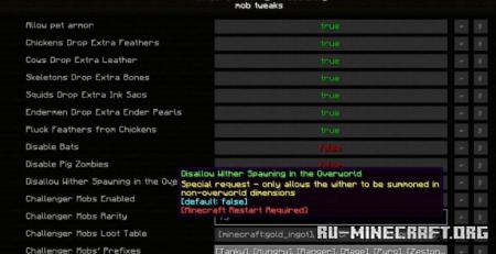 Скачать V-Tweaks для Minecraft 1.15.2