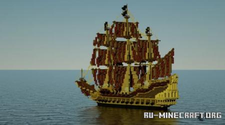Скачать Pirate Galleon для Minecraft