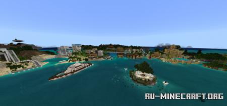Скачать Improved Biome Water Colors для Minecraft PE 1.14