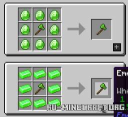 Скачать E404NNF's Emerald Tools для Minecraft 1.15.2