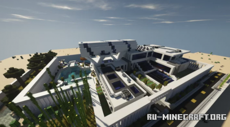 Скачать Large Abstract Modern Mansion для Minecraft