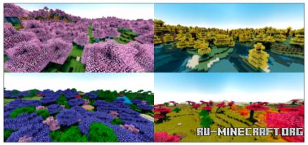 Скачать Colored Leaves для Minecraft PE 1.16