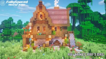 Скачать Large medieval Town house by FullySpaced для Minecraft