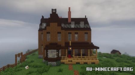 Скачать Victorian Cliffside House - Canada 1880 для Minecraft