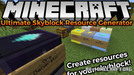 Скачать Ultimate Skyblock Resource Generator для Minecraft 1.15.2