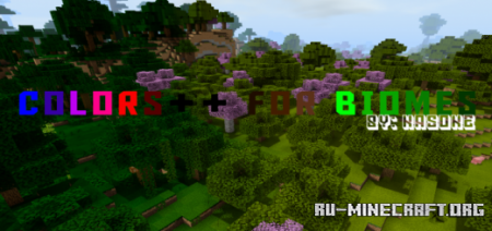 Скачать Colors Plus for Biomes для Minecraft PE 1.14